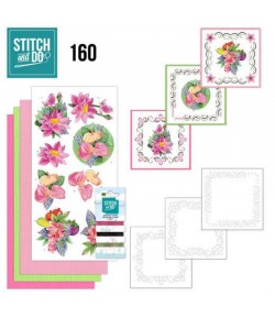 KIT 3D A BRODER EXOTIC FLOWERS - STITCH AND DO - STD0160