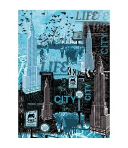 PAPIER DECOUPAGE NEW YORK 50 X 70 CM