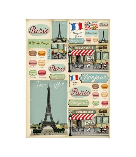 PAPIER DECOUPAGE PARIS 50 X 70 CM