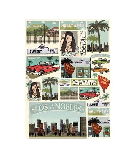 PAPIER DECOUPAGE LOS ANGELES 50 X 70 CM