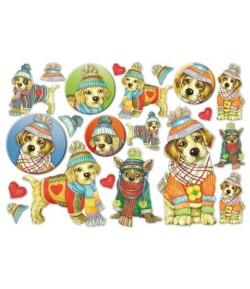 PAPIER DE RIZ HAPPY DOG 33 X 48 CM