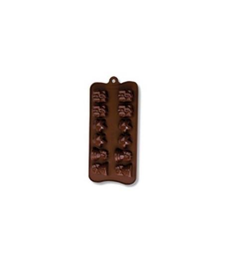 MOULE SILICONE CHOCOLAT - SUJETS DE NOEL