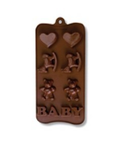 MOULE SILICONE CHOCOLAT - BABY