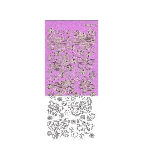 STICKERS PAPILLONS VIOLET