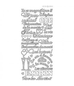 STICKERS MARIAGE BLANC