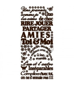 STICKERS AMOUR MARRON