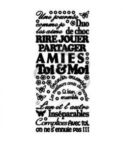STICKERS AMITIE NOIR