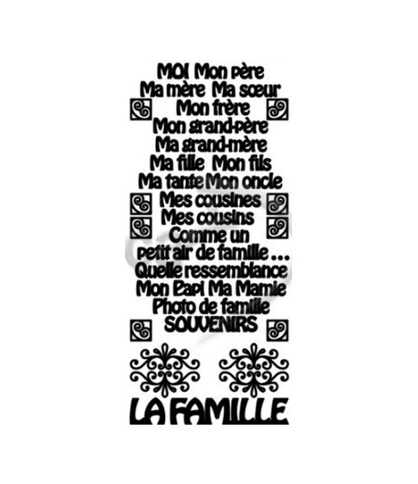 STICKERS FAMILLE MARRON