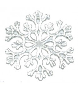 FLOCON NEIGE TRANSPARENT 8.5CM