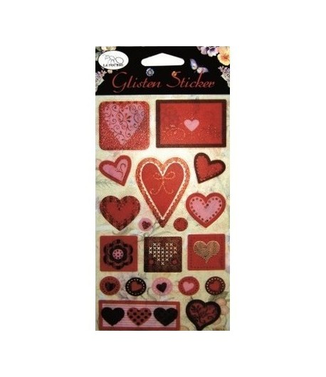 STICKERS COEURS ROSES