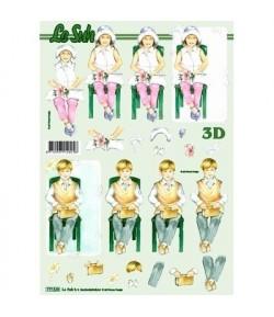 FEUILLE 3D ENFANTS 777539