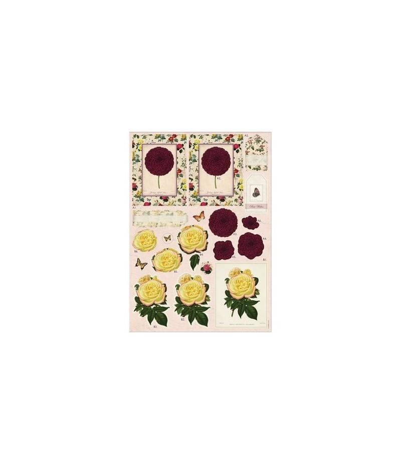 papier de riz printemps sur le lac 33 x 48 cm doigts de f 233 es