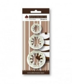 SET 3 EMPORTE-PIECES ROND DENTELLE