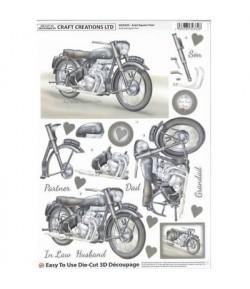 FEUILLE 3D MOTO DCD593