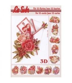 LIVRET 3D A5 FLEURS NOEL 345663