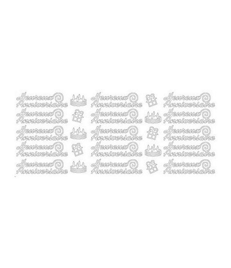 STICKERS HEUREUX ANNIVERSAIRE OR
