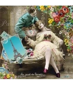 SERVIETTE LOVE COUPLE