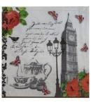 SERVIETTE TEA TIME IN LONDON
