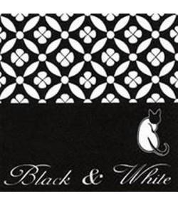 SERVIETTE BLACK AND WHITE