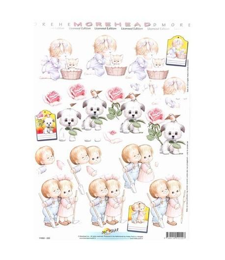 FEUILLE 3D ENFANTS ANIMAUX
