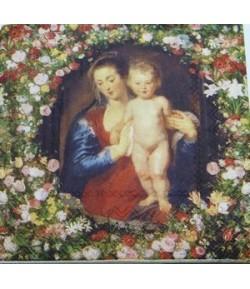 SERVIETTE LA MADONE ET L'ENFANT RUBENS