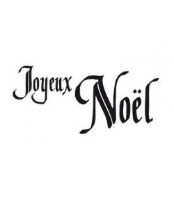 TAMPON BOIS JOYEUX NOEL CALLIGRAPHIE