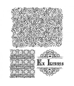 TAMPONS CLEAR EX LIBRIS WTK073 STAMPERIA