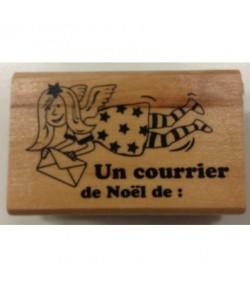 TAMPON BOIS COURRIER DE NOEL