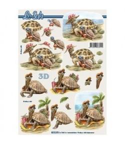 IMAGE 3D FLEURS BLEUES 30X30 SE3030143