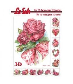 LIVRET 3D A5 FLEURS 345667