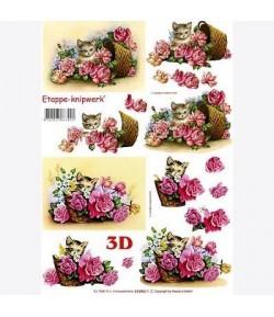 IMAGE 3D TULIPES VASE NOIR