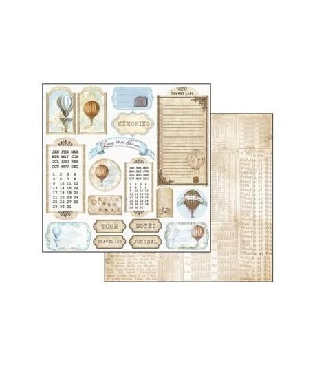 PAPIER MONTGOLFIERES 30 X 30 CM - STAMPERIA SBB361