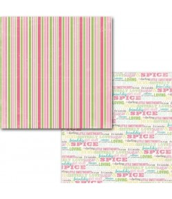 PAPIER STRIPE 30.5 X 30.5 CM - CARTA BELLA TRUE FRIENDS