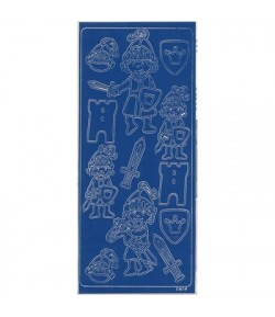STICKERS CHEVALIERS BLEU 501096