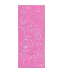 STICKERS PRINCESSE ROSE 501097