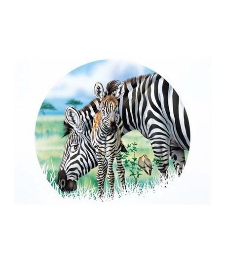 IMAGE 3D FAMILLE ZEBRE 24X30 GK2430015