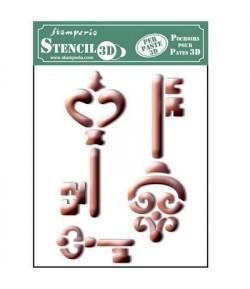 POCHOIR 3D CLES 14.5 X 19.7 CM