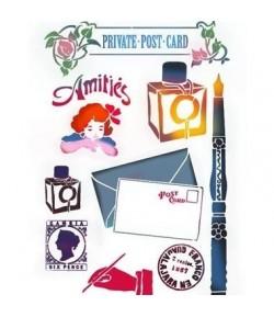 POCHOIR POST CARD 21 X 29.7 CM