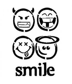 POCHOIR SMILE 21 X 29.7 CM