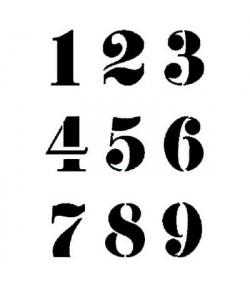 POCHOIR CHIFFRES 21 x 29.7 CM KSG291