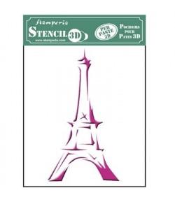 POCHOIR 3D PARIS 14.5 X 19.7 CM