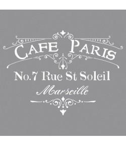 POCHOIR CAFE PARIS 30.5X30.5cm