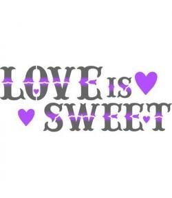 POCHOIR LOVE IS SWEET 38 X 15 CM