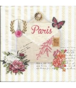 SERVIETTE LETTRE A PARIS