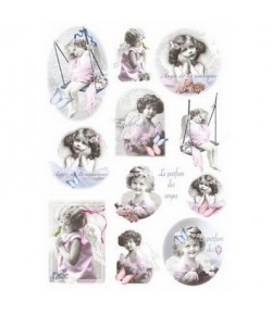PAPIER DE RIZ PICCOLI ANGELS 35X50 263