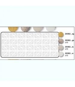 BLOC 10 FEUILLES VINTAGE ROSES 30X30