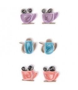 STICKERS QUILLING TEA TIME