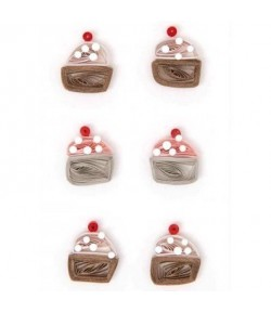 STICKERS QUILLING CUPCAKE