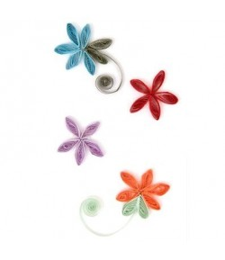 STICKERS QUILLING FLEURS