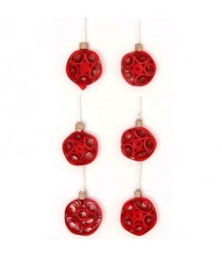 STICKERS QUILLING BOULES ROUGES